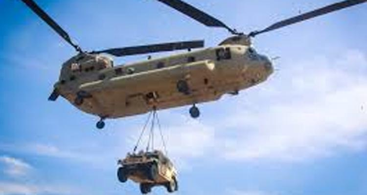 Carmarthenshire near Llangynin gets unexpected Chinook Helicopter landing