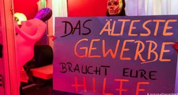 German prostitutes protest for right to work during crisis