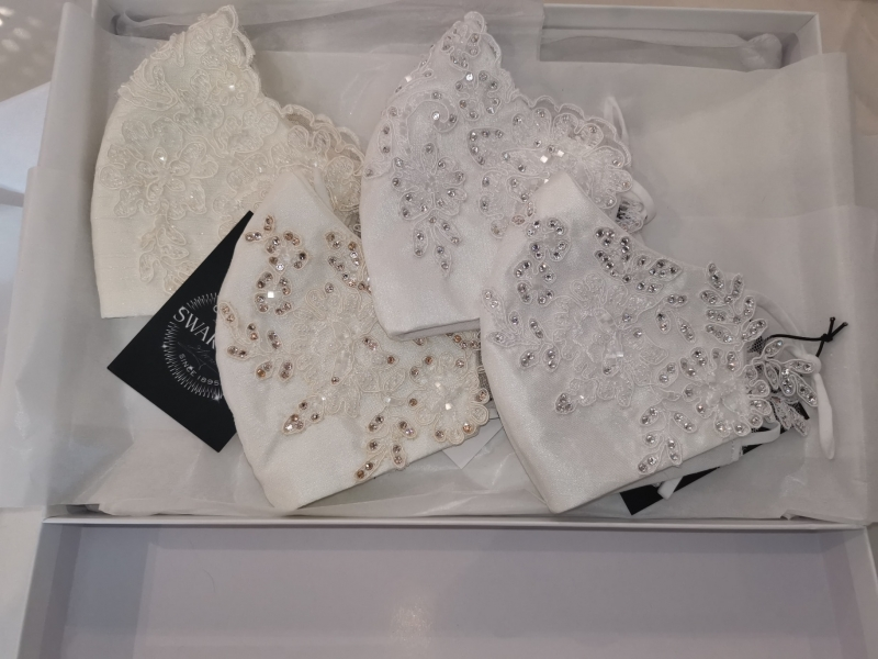 Swarovski introduce diamond bridal masks to get married in during Covid-19 pandemic