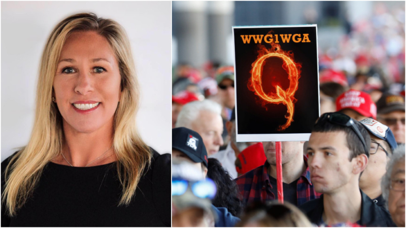QAnon supporter and anti-Soros Republican on track for Congress