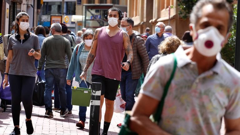 Spain's Malaga has highest rate of Covid-19 since outbreak began in the spring