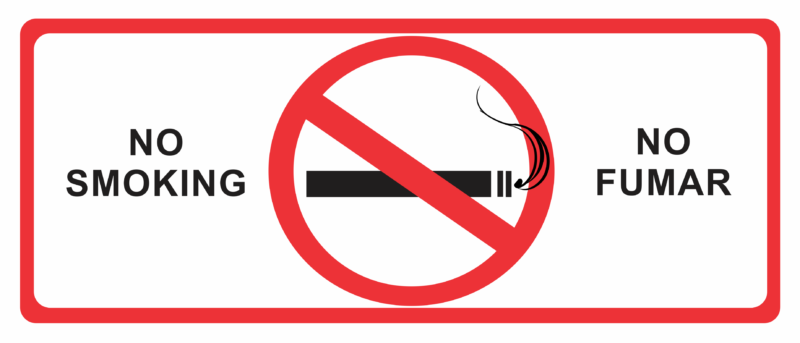 No smoking on Spanish streets from tomorrow!