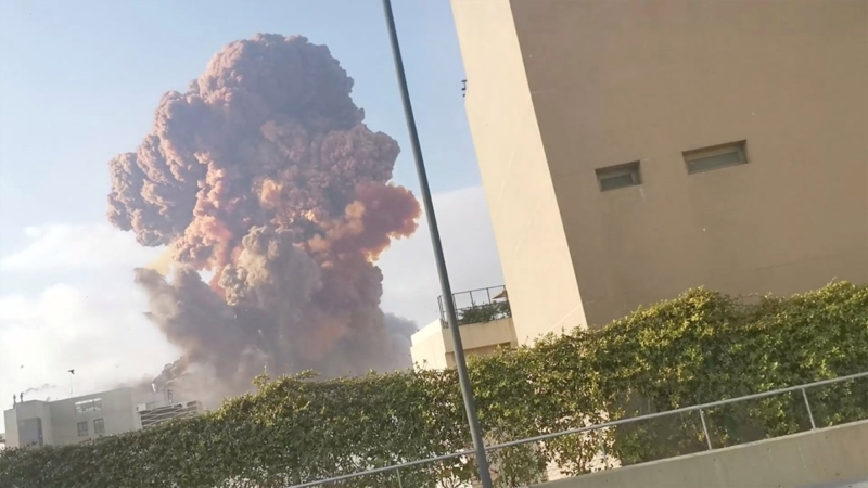 Beirut explosion: Watch as explosion sends shockwave felt 150 miles away in Cyprus