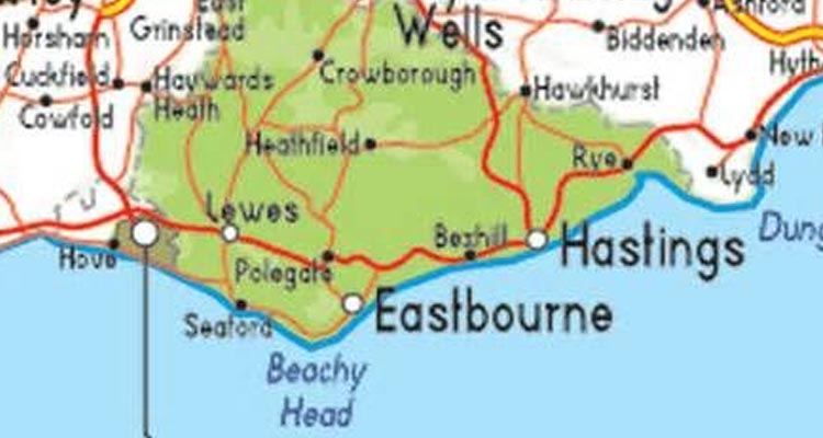 UK Earthquake near Eastbourne Sussex in the English Channel