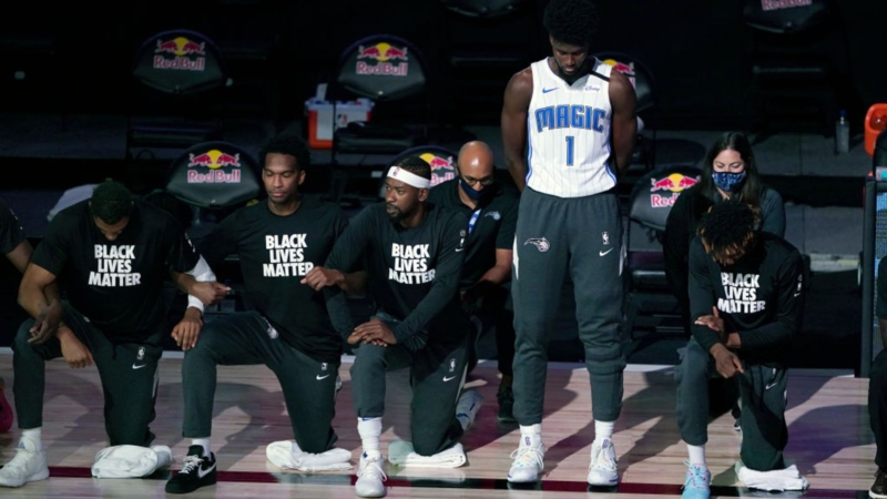 NBA basketball star explains why he did not kneel or wear a Black Lives Matter shirt during national anthem