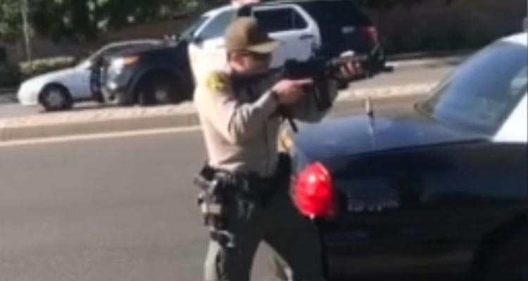 Watch LA's finest raise weapons on Black Teens to protect themselves from.. skateboards!