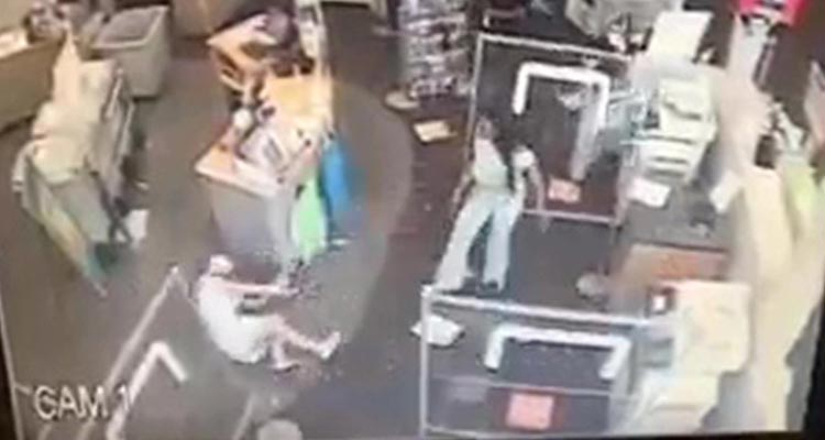 Crazy woman breaks womans leg in Staples Store in Hackensack over mask wearing issue