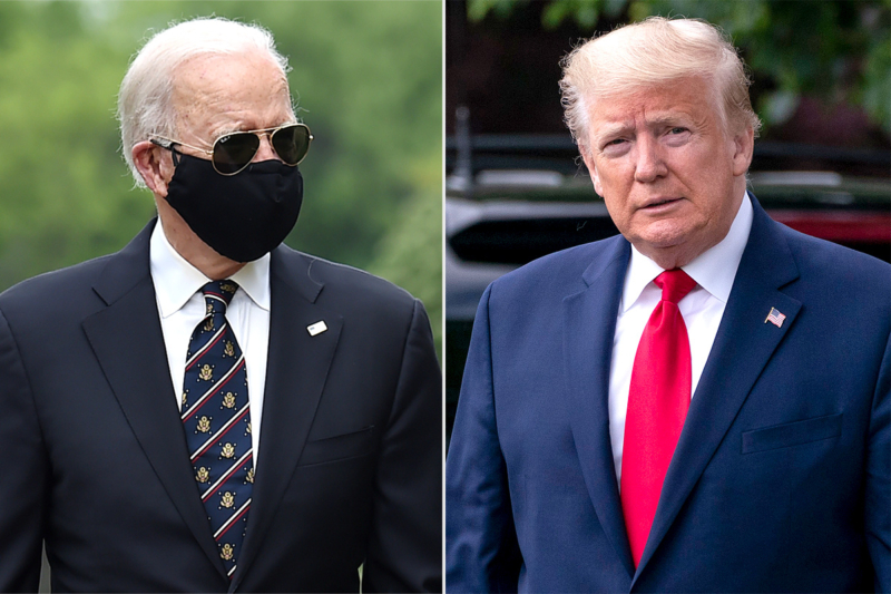 Early mail-in voting sees Trump demand early face off with Biden