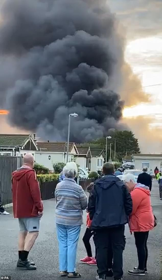 Huge fireball in Medway, Kent, UK as explosion launches gas bottles hundreds of feet into air