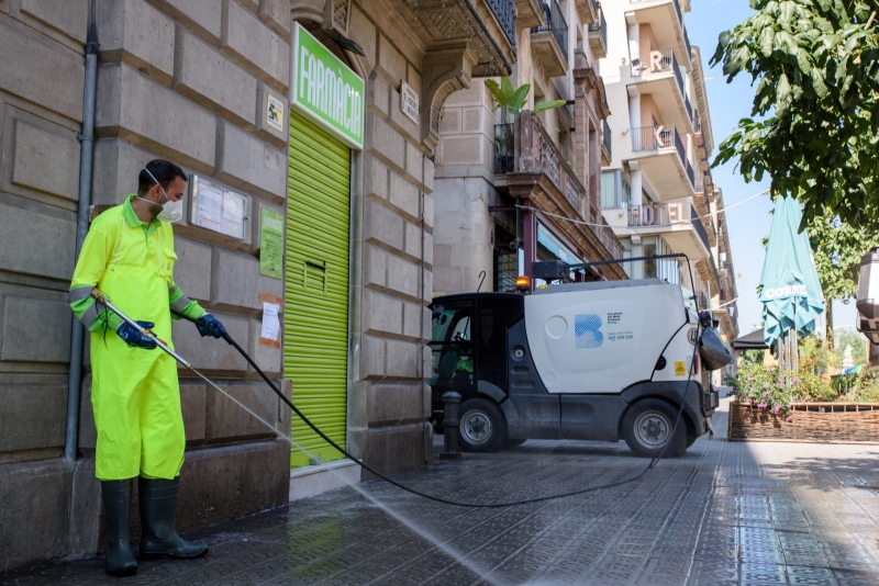 'Worrying' increase of Covid cases in Spain's Malaga leads to road bleaching increase