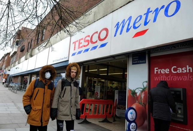 Panic buying is unnecessary as Tesco sets three-item limit