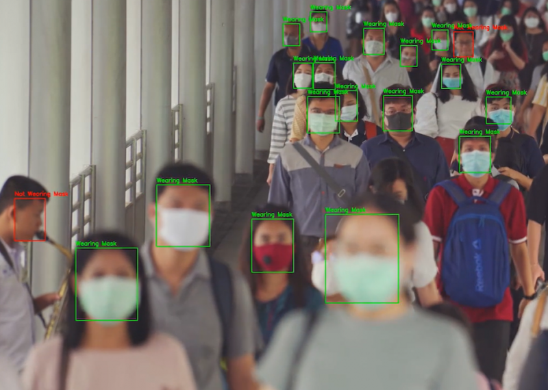 Face mask recognition has arrived to see who is complying and who isn't