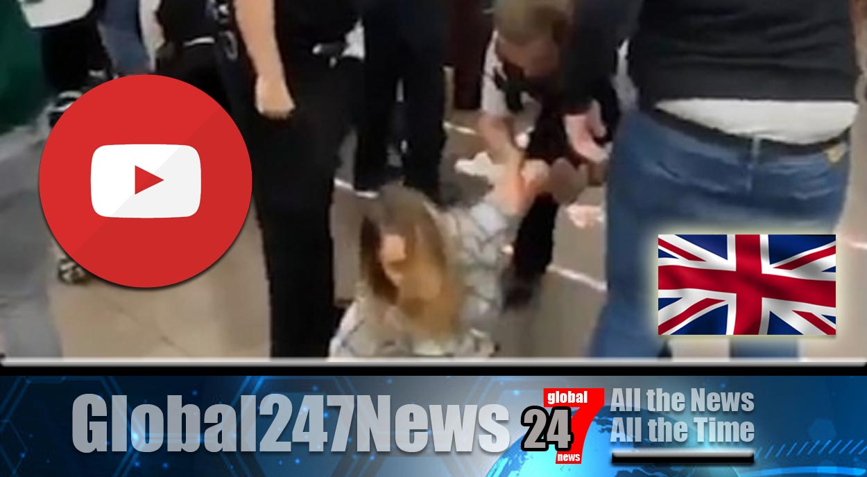 Complete madness as fight erupts with UK police inside McDonalds over social distancing