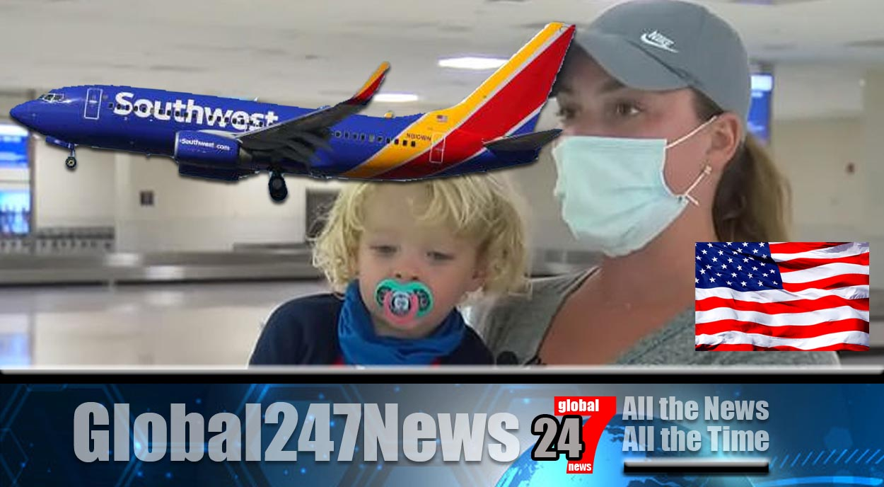 Mother and son removed from flight after toddler removes mask to eat a snack