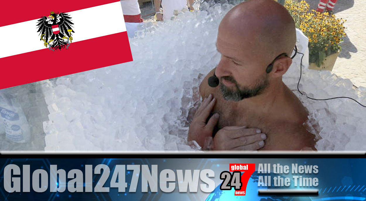 News Bite: World record for standing in a box of ice broken by Austrian man