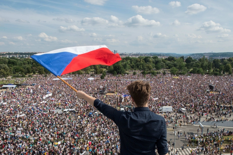 Covid-19: Czech Republic introduces 30 day state of emergency which cause mass protests in Prague