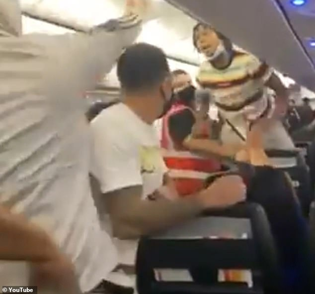 Video shows woman tasered in the face on flight for not wearing a mask