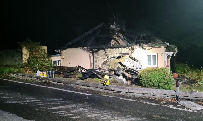 Rampaging car driver in Cornwall smashes into house and charged with suspected arson