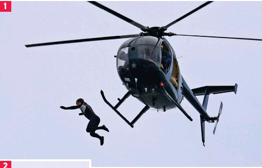 Former Para John Bream the 'flying fish' jumps from chopper with no parachute