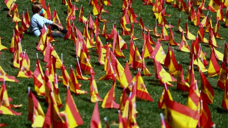 Spain goes past one million COVID cases