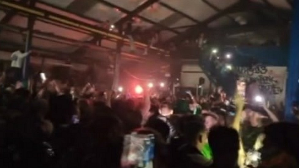 Police attacked and two people arrested at illegal rave in Bristol