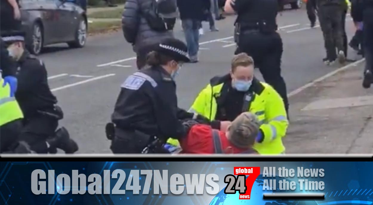 Violence erupted at an anti-lockdown protest in Essex which led to several police officers being injured and twelve people arrested.
