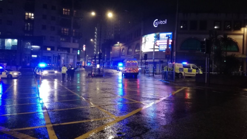 Stabbings take place on Cardiff's Queen Street