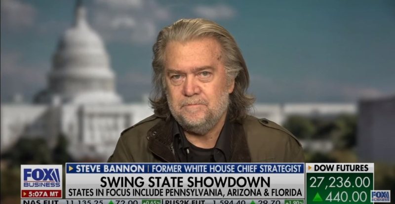 "Voter fraud in Pennsylvania? Political strategist Steve Bannon says ""We cannot let the chaos the Democratic party wants happen"""