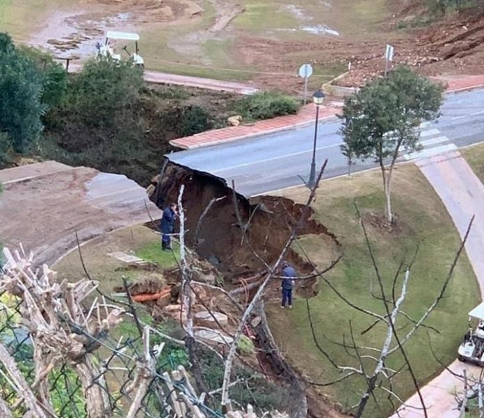 Costa del Sol Crumble in Spain as roads collapse