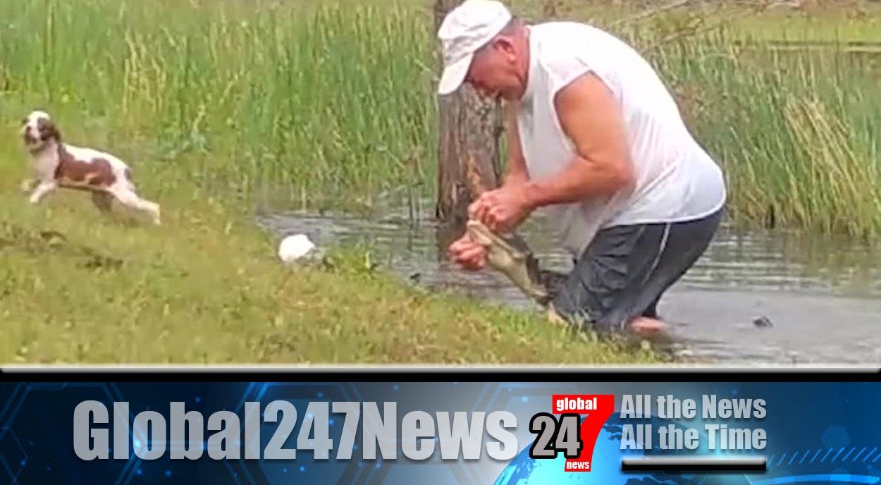 Man in Florida wrestles alligator to save his dog