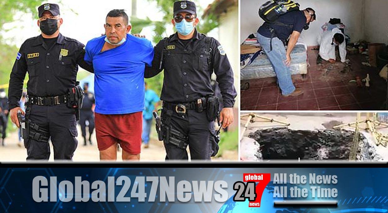 El Salvador former cop stashed dead bodies in his home