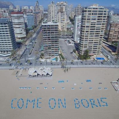 Come On Boris Say Traders In Spain's Benidorm As It's About To Go GREEN