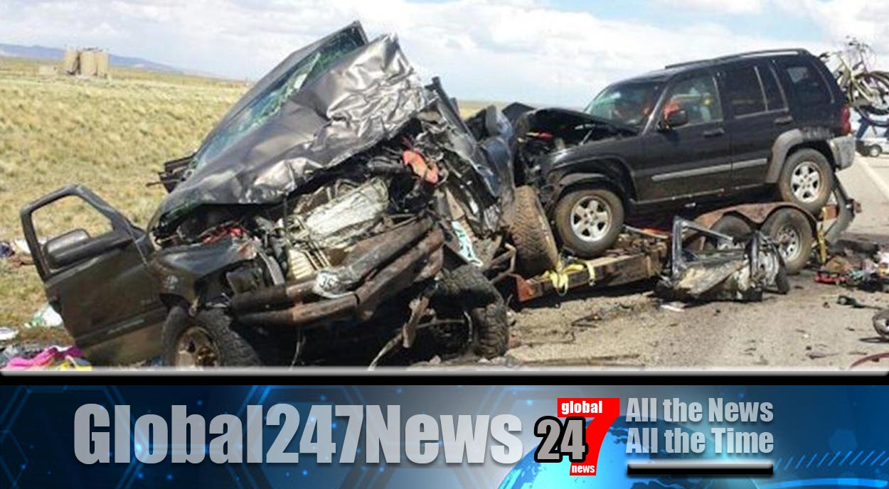 Horrific head on collision in Wyoming