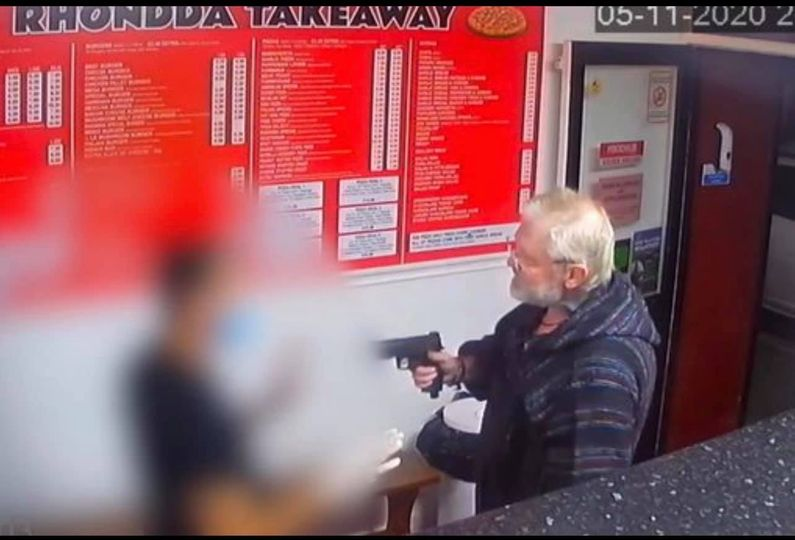 Man pulled gun in kebab shop after refusing to wear a face mask and aimed it at customers