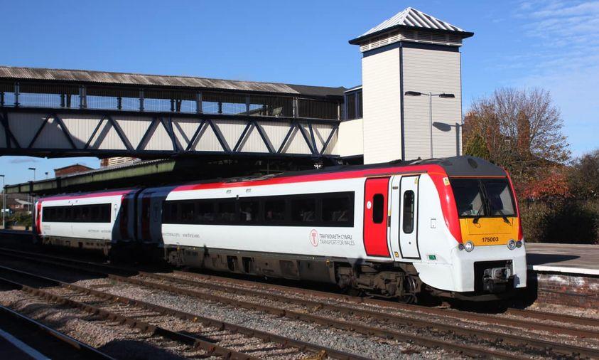 Train death in Bridgend as person hit causing cancellation of trains.