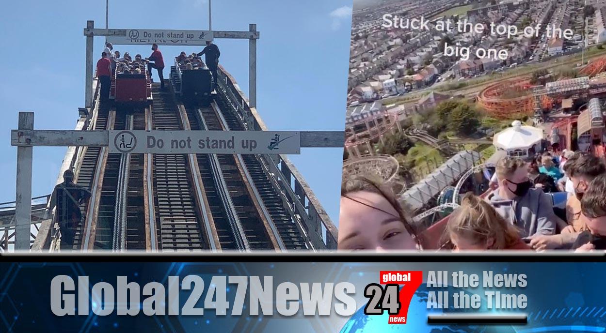 Thrill seekers rescued as Blackpool ride breaks down