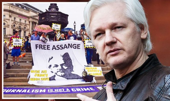 Julian Assange Currently In Court As US Apply For Extradition Order To Be Overturned