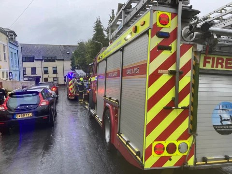 Plymouth school evacuated as it's hit by a bolt of lightning during storms
